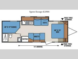 Spree Escape E250S Floorplan Image