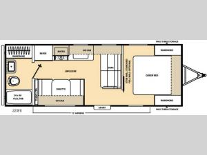 Catalina 223FB Floorplan Image