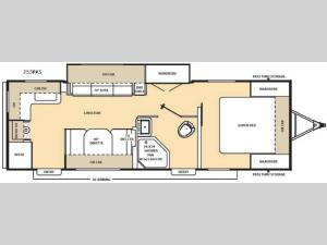 Catalina 253RKS Floorplan Image