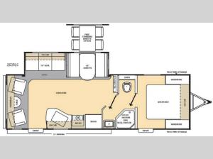 Catalina 263RLS Floorplan Image