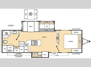 Catalina 293RBKS Floorplan Image
