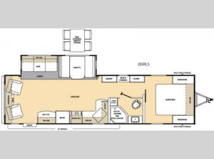 Catalina 293RLS Floorplan Image