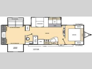 Catalina 323TSQB Floorplan Image