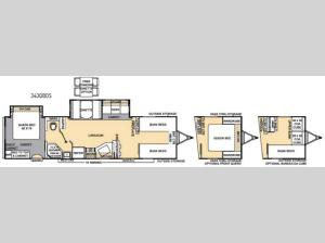 Catalina 343QBDS Floorplan Image