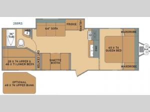 Flyte 255RS Floorplan Image