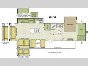 Autumn Ridge 326TSI Floorplan Image