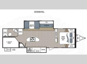 Kodiak Ultimate 306BHSL Floorplan Image