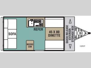Legend Hardside V12RSST Floorplan Image