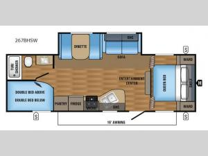 Jay Flight SLX 267BHSW Floorplan Image