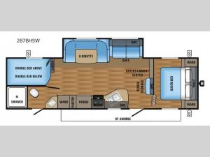 Jay Flight SLX 287BHSW Floorplan Image