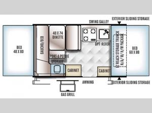 Rockwood Freedom Series 1910 Floorplan Image