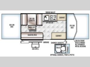 Rockwood Freedom Series 2280BH Floorplan Image