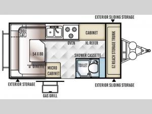 Rockwood Hard Side High Wall Series A194HW Floorplan Image