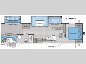 Eagle 314BHDS Floorplan Image