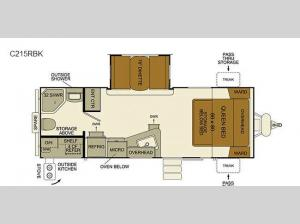 I-Go Cloud Series C215RBK Floorplan Image