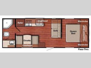 Kingsport Lite 241RB Floorplan Image