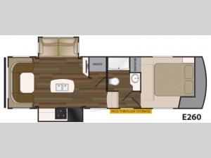 ElkRidge Xtreme Light E260 Floorplan Image