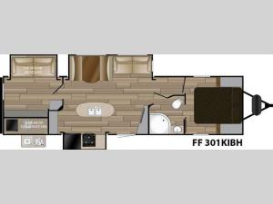Fun Finder Signature Edition F-301KIBH Floorplan Image