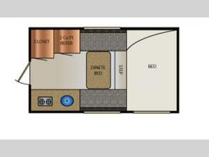 Truck Campers 690FD Series Floorplan Image