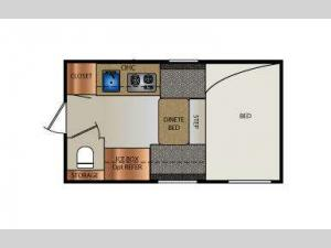 Truck Campers 770 Super Lite Series Floorplan Image