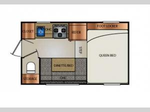 Truck Campers 800SB Series Floorplan Image