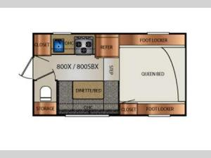 Truck Campers 800X Series Floorplan Image