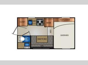 Truck Campers 890R  Series Floorplan Image