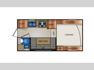 Truck Campers 960RX Series Floorplan Image