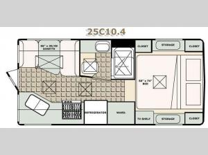 Bigfoot 2500 Series Truck Camper 25C10.4 Floorplan Image
