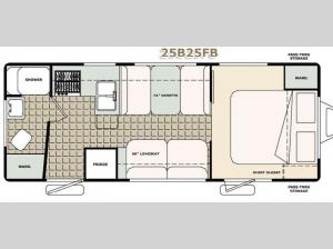 Bigfoot 2500 Series Travel Trailer 25B25FB Floorplan Image