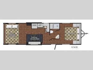 Quicksilver VRV 8.5 x 30 Floorplan Image