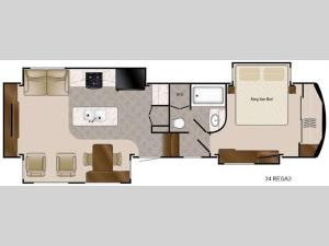 Travel Suites Limited Exploring Edition TS 34RESA3 Floorplan Image