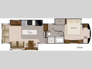 Travel Suites Limited Exploring Edition TS 38RSB3 Floorplan Image