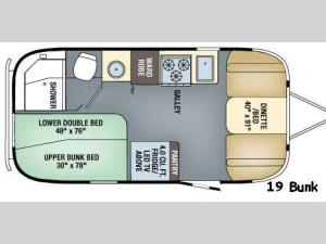 Flying Cloud 19 Bunk Floorplan Image