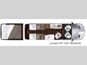Interstate Lounge EXT Lounge EXT Twin Wardrobe Floorplan Image