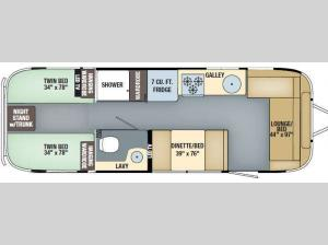 International Serenity 28 Twin Floorplan Image