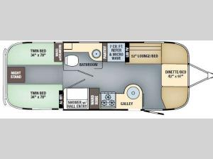 International Signature 25 Twin Floorplan Image