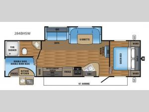 Jay Flight SLX 284BHSW Floorplan Image