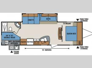 Spree Connect C281BHK Floorplan Image