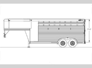 Horse Trailers Express CX Edition Floorplan Image