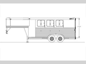 Horse Trailers Express CXF Edition Floorplan Image