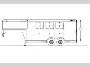 Horse Trailers Express SS Edition Floorplan Image