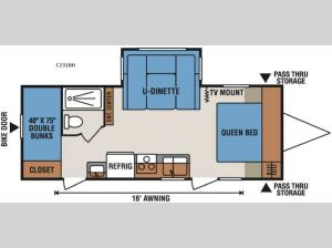 Spree Connect C231BH Floorplan Image
