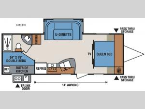 Spree Connect C241BHK Floorplan Image