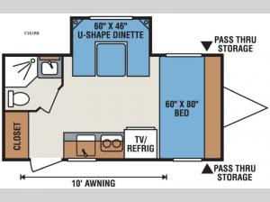 Spree Escape E161RB Floorplan Image