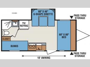 Spree Escape E191BH Floorplan Image