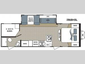 Kodiak Ultra Lite 286BHSL Floorplan Image