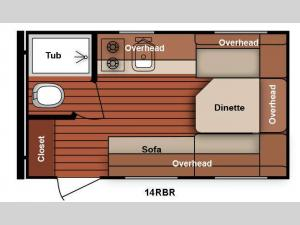 Serro Scotty 14RBR Floorplan Image
