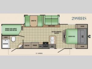 Launch Grand Touring 299BHS Floorplan Image