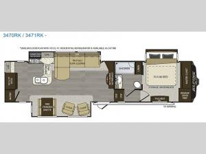 Alpine 3471RK Floorplan Image